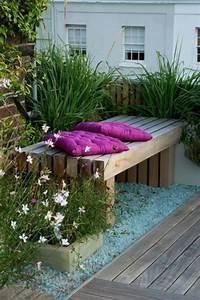 Mobilier Jardin Pas Cher : voici nos exemples pour un banc de jardin ~ Melissatoandfro.com Idées de Décoration
