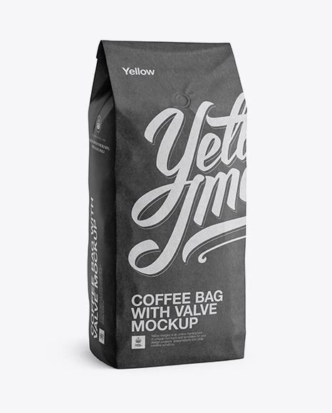 Paper bag front view free mockup psd a paper bag mockup psd file to help you showcase your print branding and packaging design. 2,5 kg Kraft Coffee Bag With Valve Mockup - Half-Turned ...