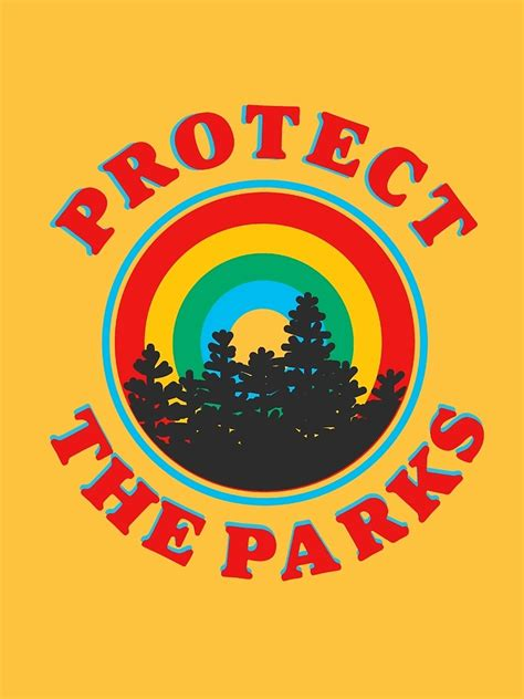 protect the parks retro aesthetic environmentalist sticker ...