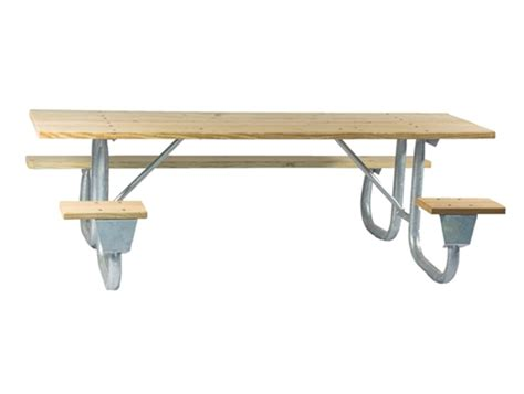 picnic table frame kit ada frame kit for 6 ft picnic table welded 2 3 8