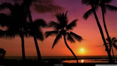 Sunset Beach Tropical Desktop Wallpapers Nature Cool