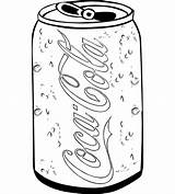 Coloring Cola Coke Coca Soda Bottle Sketch Template Drawing Drink Soft Glass Templates sketch template
