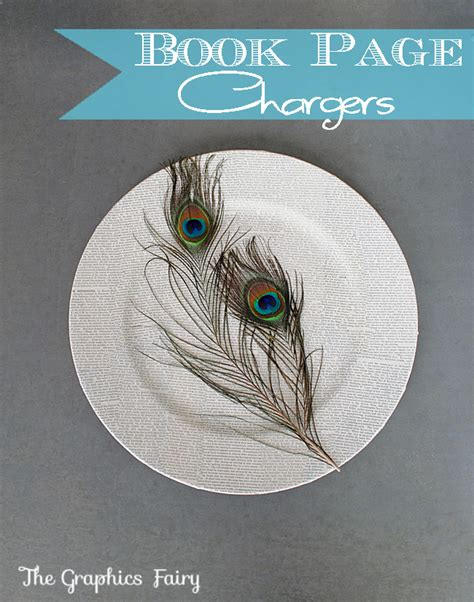 book page crafts mod podge chargers  graphics fairy
