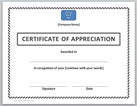 Certificate Of Thanks Template by 13 Free Certificate Templates For Word Microsoft And
