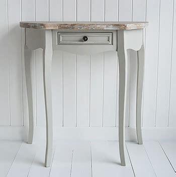 bridgeport grey  moon console table living hall