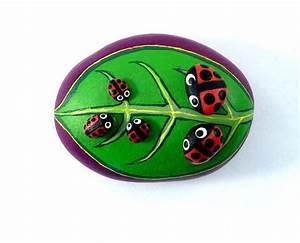 Lady, Bug, Pet, Stone, Painted, Lady, Bug, Stone, Art, Ladybird