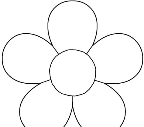 Flower Template 5 Petals flower template coloring europe travel
