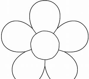 daisy flower template kids coloring europe travel With flower template 5 petals