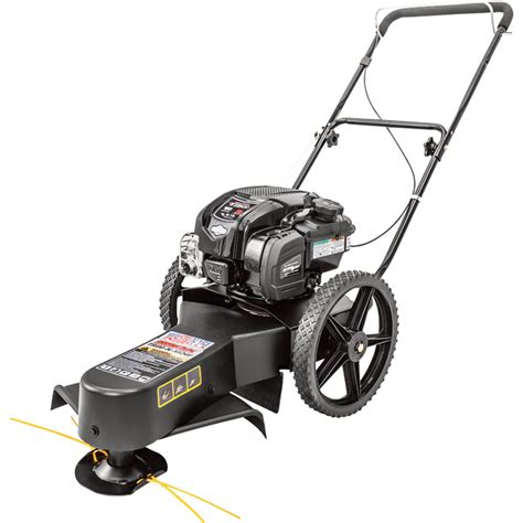 swisher walk  high wheel string trimmer cc briggs stratton