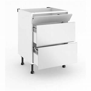 Meuble Sous Evier 90 Cm : meuble de cuisine sous vier cm 1 faux tiroir twist ~ Dailycaller-alerts.com Idées de Décoration