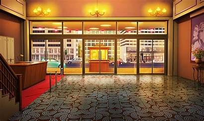 Episode Anime Interactive Backgrounds Lobby Theater Night