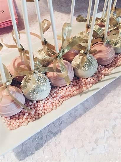 Shower Bridal Pink Gold Cake Pops Pretty