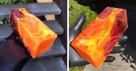 resin art  deranged donkey    piece  hot lava