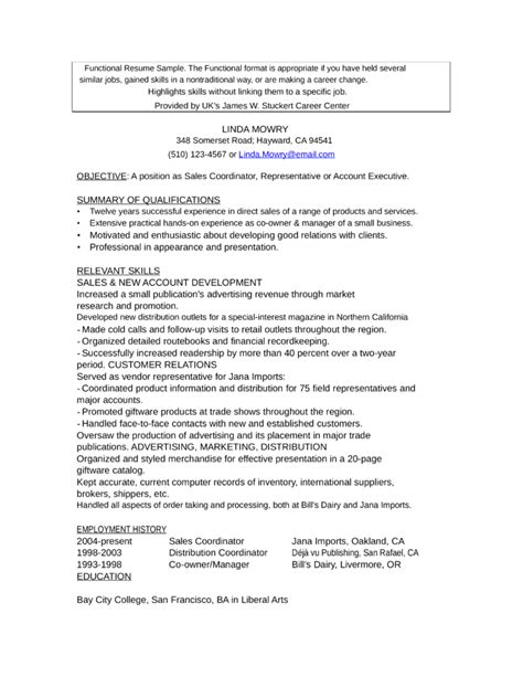 Functional Executive Format Resume Template by Functional Account Executive Resume Template