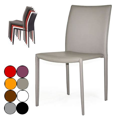 chaise simili cuir gris chaise simili cuir taupe