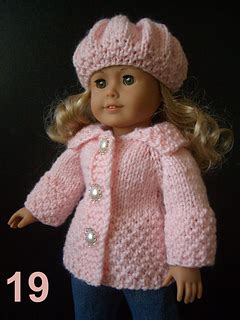 ravelry cotton candy  ag doll coat set pattern  vita