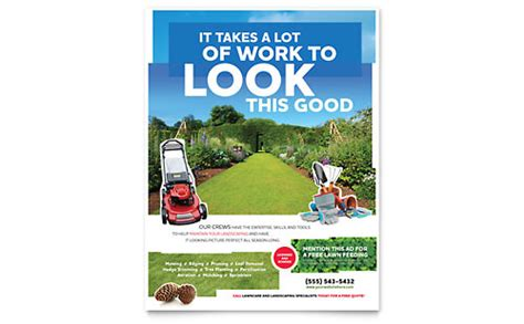 Lawn Mowing Service Brochure Template Word Publisher Lawn Mowing Service Brochure Template Word Publisher