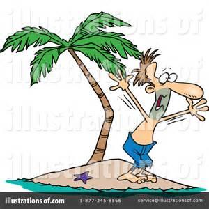 Stranded On Island Cartoon