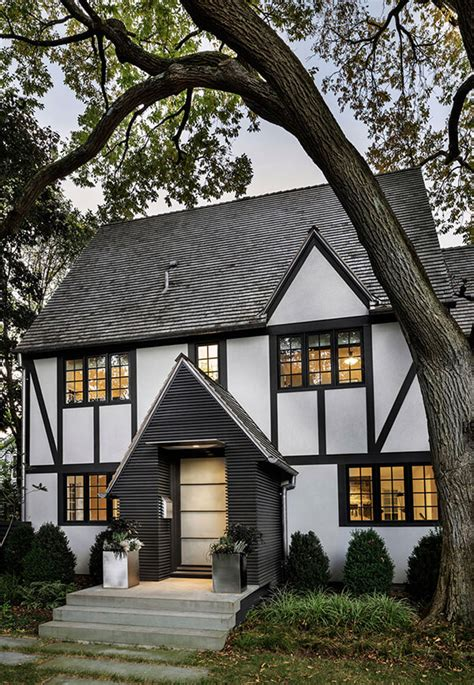 unique tudor style residence   modern addition  rye
