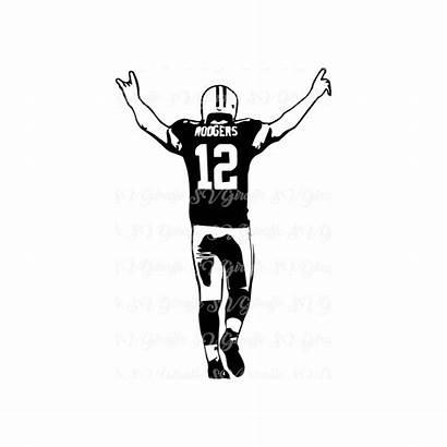 Svg Packers Bay Rodgers Aaron Cricut Dxf