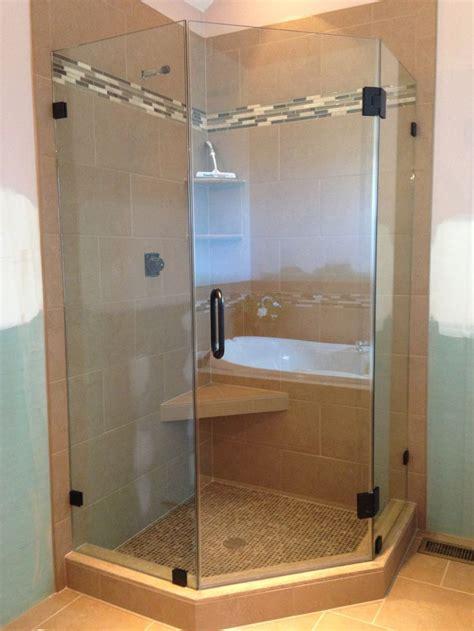 frameless shower door showermans neo angle shower