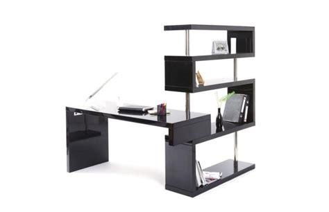 bureau noir design mon bureau chez moi miliboo
