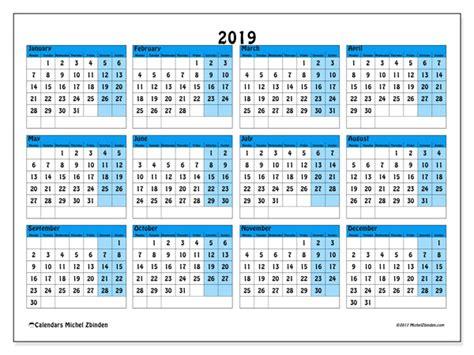 Calendars 2019 (MS)