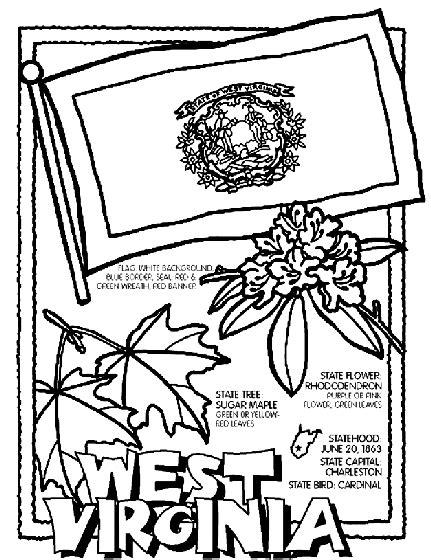 west virginia coloring page crayolacom