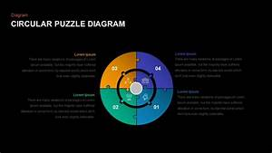 Circular Puzzle Diagram Template For Powerpoint