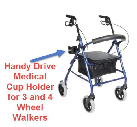 walkers seniors drive cup holder medical wheel elderly three sitting without bags