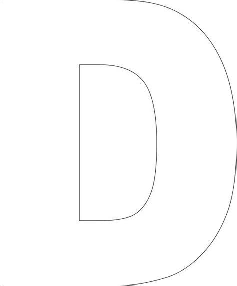 letter d template free printable alphabet template