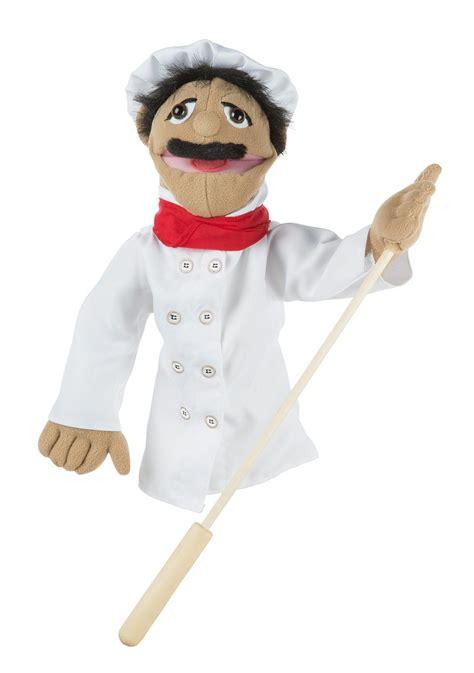 melissa doug chef puppet  detachable wooden rod