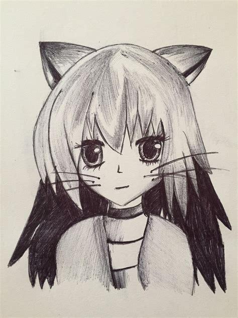 cat anime girl drawing original art  kaylin
