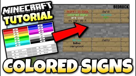 colored signs minecraft how to make colored signs randomize