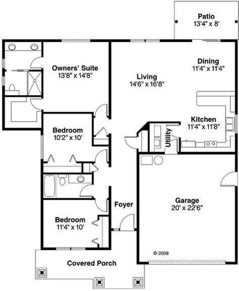 open kitchen house plans 3 bedroom 2 bath bungalow house plan alp 0988