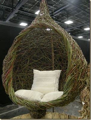 hanging pod seat   willow  red dogwood willow