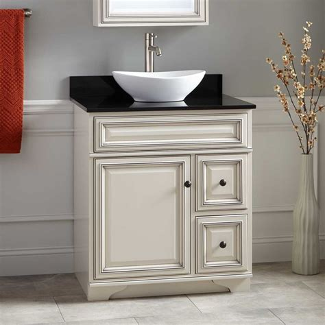 misschon vessel sink vanity antique white