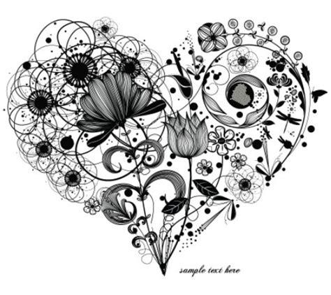 vintage floral heart vector  titanui