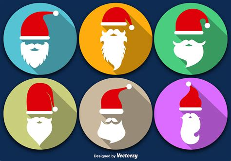 Santa Claus Beard With Christmas Icon - Download Free ...