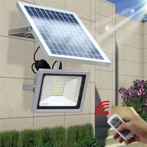solar panel flood lights 120led remote solar flood light