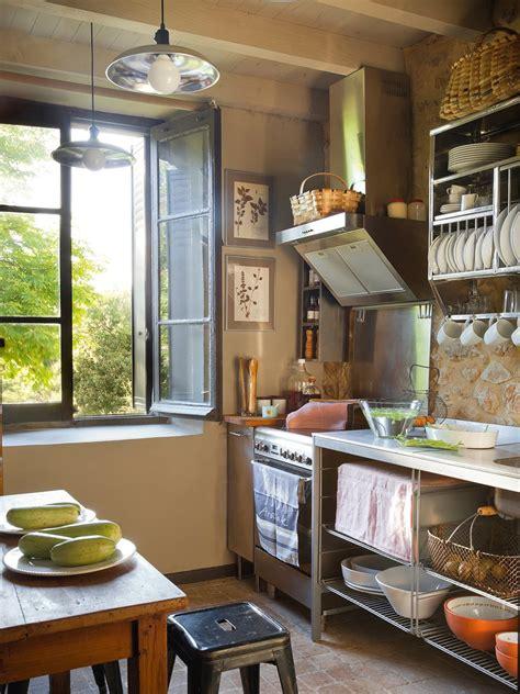 como debe ser una cocina de una casa de campo
