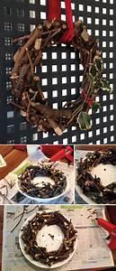 Kranz Aus ästen : kranz mit sten aus dem wald und mit hei kleber zusammen geklebt deko und diy pinterest ~ Whattoseeinmadrid.com Haus und Dekorationen