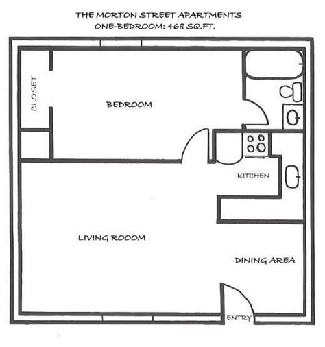 One Bedroom House Floor Plans by Best One Bedroom House Plans Apartment Rentals Morton