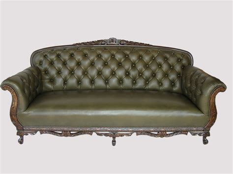 buy a custom tufted leather arched sofa made to order