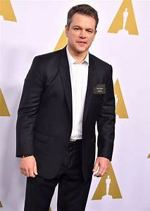 Matt Damon at the 2017 Annual Academy Awards Nominee ...