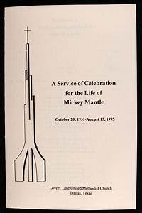 Lot Detail - 1995 Mickey Mantle Funeral Program Collection ...