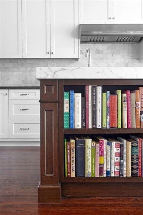 Island Cookbook Shelf   Contemporary   kitchen   Benjamin