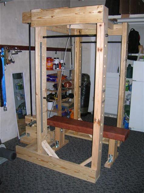 homemade power rack  lat tower