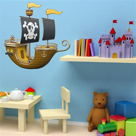 Wandtattoo Kinderzimmer Piraten by Kinderzimmer Wandtattoo Gelb Piraten Schiff