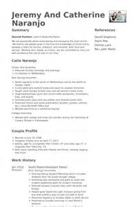 Pastor Resume Exles Sles by Youth Pastor Resume Sles Visualcv Resume Sles Database